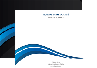 imprimer affiche web design bleu couleurs froides gris MIF79564