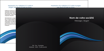 exemple depliant 2 volets  4 pages  web design bleu couleurs froides gris MLGI79576