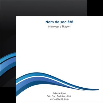 personnaliser modele de flyers web design bleu couleurs froides gris MIF79580