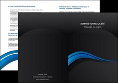 faire depliant 2 volets  4 pages  web design bleu couleurs froides gris MIF79586