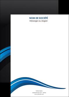 modele affiche web design bleu couleurs froides gris MIF79590