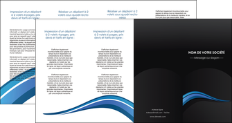 modele depliant 4 volets  8 pages  web design bleu couleurs froides gris MIF79592
