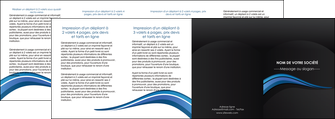 modele depliant 4 volets  8 pages  web design bleu couleurs froides gris MIF79594