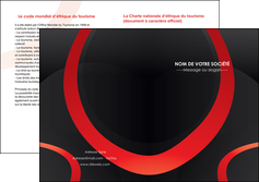 exemple depliant 2 volets  4 pages  web design rouge rond abstrait MIF79670
