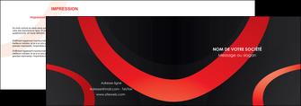 personnaliser maquette depliant 2 volets  4 pages  web design rouge rond abstrait MLGI79674