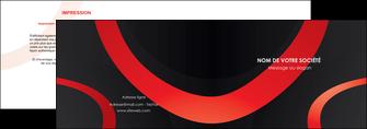 personnaliser maquette depliant 2 volets  4 pages  web design rouge rond abstrait MIF79676