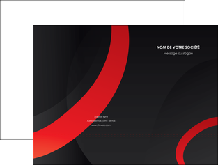 maquette en ligne a personnaliser pochette a rabat web design rouge rond abstrait MLGI79678
