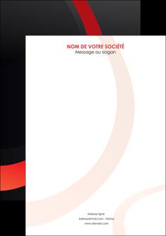 maquette en ligne a personnaliser flyers web design rouge rond abstrait MIF79690