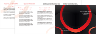 impression depliant 4 volets  8 pages  web design rouge rond abstrait MIF79694