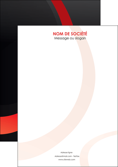 imprimerie flyers web design rouge rond abstrait MLGI79696