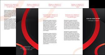 imprimer depliant 4 volets  8 pages  web design rouge rond abstrait MLGI79698