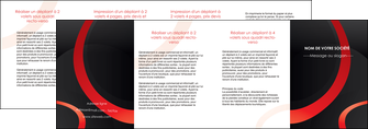 realiser depliant 4 volets  8 pages  web design rouge rond abstrait MIF79700