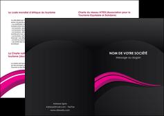 personnaliser maquette depliant 2 volets  4 pages  web design violet fond violet arriere plan MIF80304