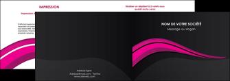 creer modele en ligne depliant 2 volets  4 pages  web design violet fond violet arriere plan MIF80314