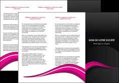 cree depliant 3 volets  6 pages  web design violet fond violet arriere plan MIF80324