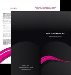 exemple depliant 2 volets  4 pages  web design violet fond violet arriere plan MIF80326