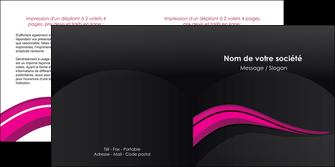 modele en ligne depliant 2 volets  4 pages  web design violet fond violet arriere plan MIF80328