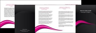 modele depliant 4 volets  8 pages  web design violet fond violet arriere plan MIF80340