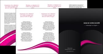 impression depliant 4 volets  8 pages  web design violet fond violet arriere plan MIF80344