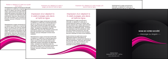 faire depliant 4 volets  8 pages  web design violet fond violet arriere plan MLGI80346