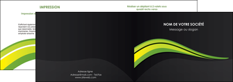modele en ligne depliant 2 volets  4 pages  paysage vert gris nature MIF80366