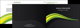 modele en ligne depliant 2 volets  4 pages  paysage vert gris nature MLIGBE80366