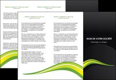 impression depliant 3 volets  6 pages  paysage vert gris nature MIF80376