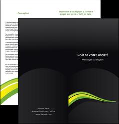 maquette en ligne a personnaliser depliant 2 volets  4 pages  paysage vert gris nature MIF80378