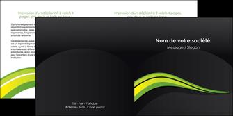 maquette en ligne a personnaliser depliant 2 volets  4 pages  paysage vert gris nature MIF80380