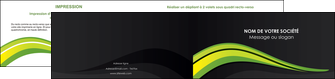 creer modele en ligne depliant 2 volets  4 pages  paysage vert gris nature MIF80386