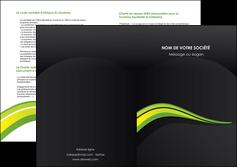 modele en ligne depliant 2 volets  4 pages  paysage vert gris nature MIF80390