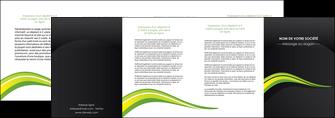 impression depliant 4 volets  8 pages  paysage vert gris nature MIF80392