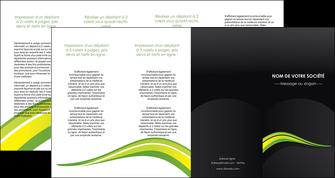 imprimerie depliant 4 volets  8 pages  paysage vert gris nature MIF80396