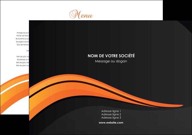 creer modele en ligne set de table web design orange gris couleur froide MLGI80402