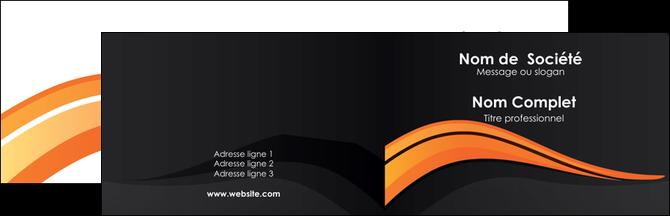 personnaliser modele de carte de visite web design orange gris couleur froide MLGI80410