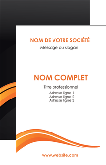 imprimerie carte de visite web design orange gris couleur froide MIF80412