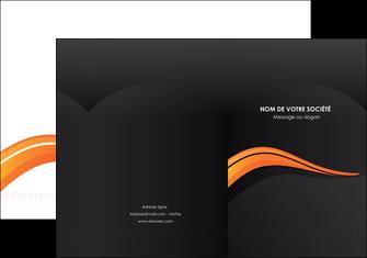 imprimer pochette a rabat web design orange gris couleur froide MLGI80414