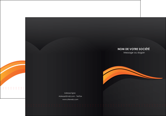imprimer pochette a rabat web design orange gris couleur froide MLIG80414