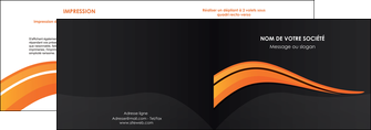 imprimerie depliant 2 volets  4 pages  web design orange gris couleur froide MIF80418