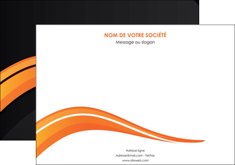 impression affiche web design orange gris couleur froide MIF80420