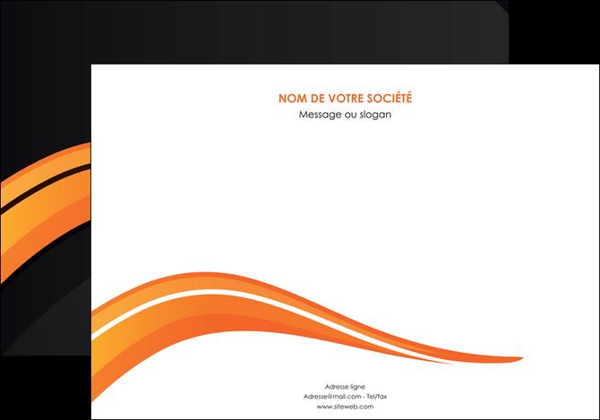 personnaliser maquette affiche web design orange gris couleur froide MLGI80424