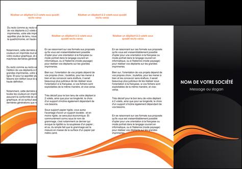 realiser depliant 3 volets  6 pages  web design orange gris couleur froide MLGI80428