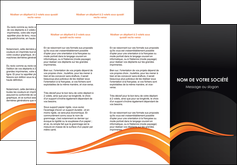 realiser depliant 3 volets  6 pages  web design orange gris couleur froide MID80428