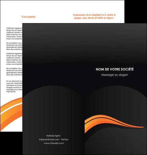 maquette en ligne a personnaliser depliant 2 volets  4 pages  web design orange gris couleur froide MLGI80430