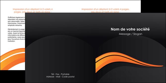 impression depliant 2 volets  4 pages  web design orange gris couleur froide MLGI80432