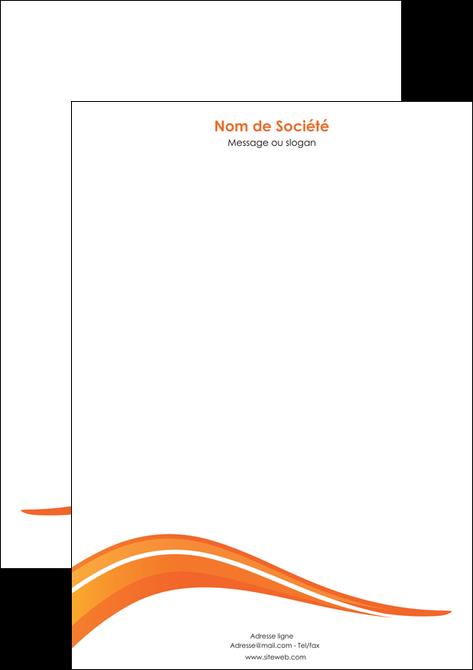 personnaliser maquette tete de lettre web design orange gris couleur froide MLGI80434