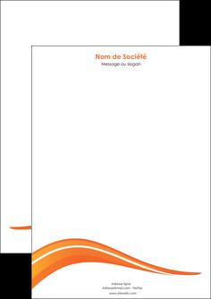 personnaliser maquette tete de lettre web design orange gris couleur froide MIS80434