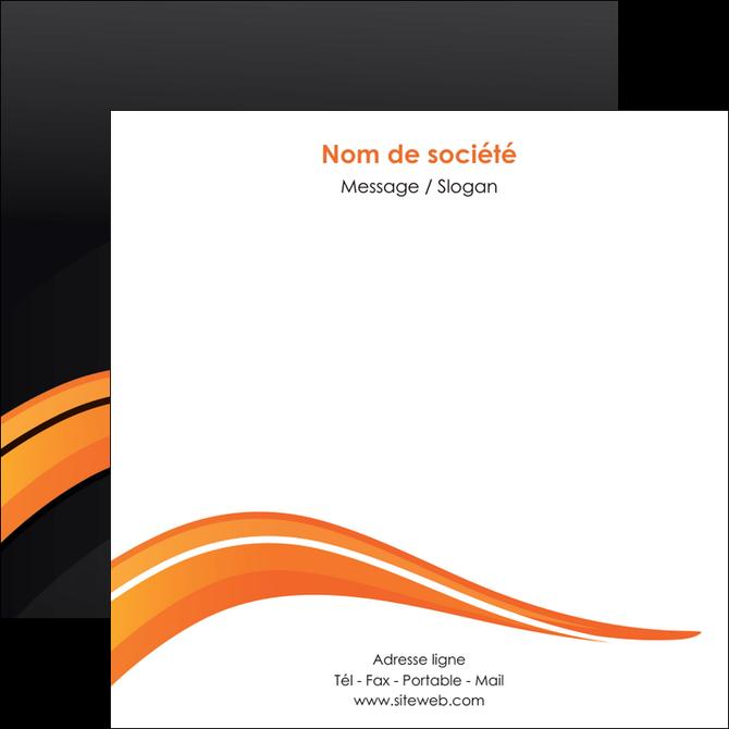 personnaliser modele de flyers web design orange gris couleur froide MLGI80436