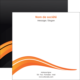 personnaliser modele de flyers web design orange gris couleur froide MIF80436