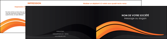 maquette en ligne a personnaliser depliant 2 volets  4 pages  web design orange gris couleur froide MIS80438